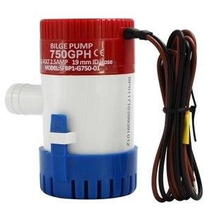 Image 3 - Bomba elétrica de bilge, bomba de água submersível para aquário, 350 500 1100gph dc 12v 24v, 750 barcos em casa