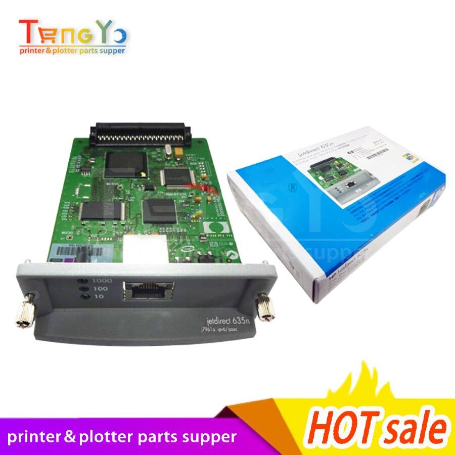 7961g - JetDirect 635N J7961G Free shipping 100% new original  Ethernet Internal Print Server Network Card and DesignJet Plotter Printer