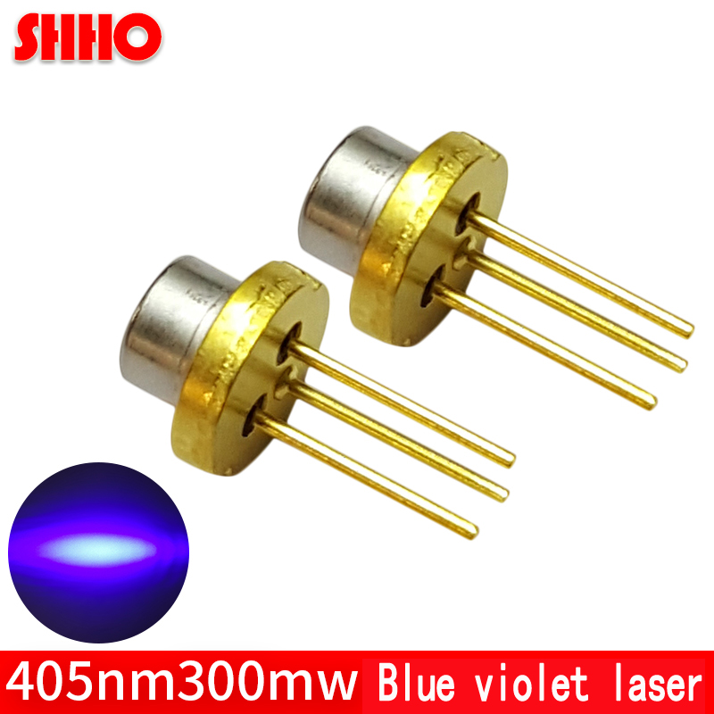 High quality laser semiconductor TO18/diameter 5.6mm 405nm 300mw blue violet laser diode high power laser emitter head