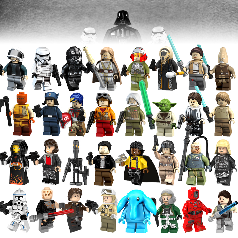 Legoelys Star Wars Building Blocks Figure Han Solo Anakin Darth Vader Yoda Legoelys Star Wars Toys Compatible Starwars Figures