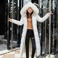 over the knee <font><b>parka</b></font> ladies 2018 new fashion big fur collar winter coat women thickening warm outwear plus size down jacket women