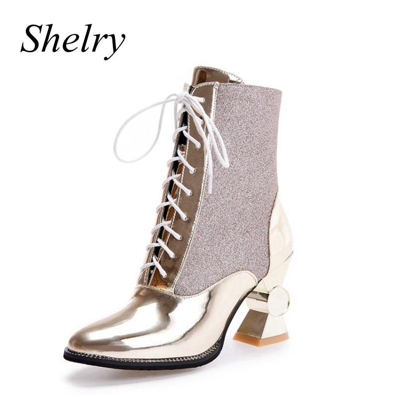 Gold Short Heels Fs Heel