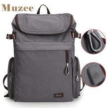 font b 2017 b font New Muzee Brand Vintage backpack Large Capacity men Male Luggage