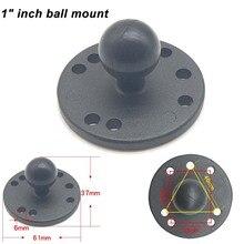 JINSERTA อลูมิเนียมรอบฐาน 1 นิ้ว Mount กับรูปแบบหลุม AMPS RAM B 202U สำหรับ Ram Mounts ทำงานสำหรับกล้อง GPS สมาร์ทโฟน