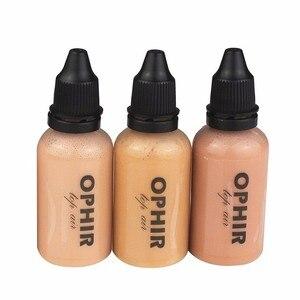 Image 3 - OPHIR 10 butelek makijażu Airbrush farby zestaw z 3 kolory Air fundacja 2x powietrza rumieniec 5x powietrza cieni do powiek dla farba do twarzy salon makijażu,