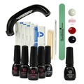 9W LED Lamp Nail Gel Polish Set & Kit Base Gel Top Coat Remover Wraps 5 Colors Polish Kit Set Nails Tools Manicure Kit