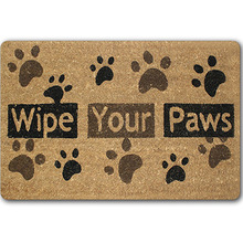 CAMMITEVER Wipe Your Paws Mat Funny Carpet Welcome Floor Come In Carpet For Living Room Go Away Bedroom Tapete 40x60cm Rubber