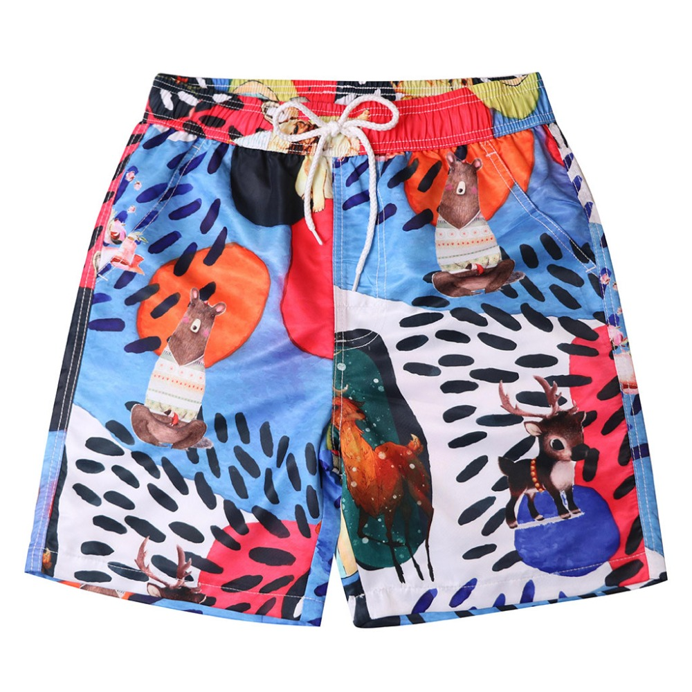 Cartoon Men Beach   Shorts   Quick Dry Surfing Beach   Board     shorts   Sports Mens Swimming Trunks Boys Swimming suit Male Swimwear   Short