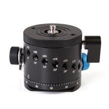 Indexação Rotator Para Tripé de Câmera BallHead Braçadeira panorâmica Panorama Cabeça