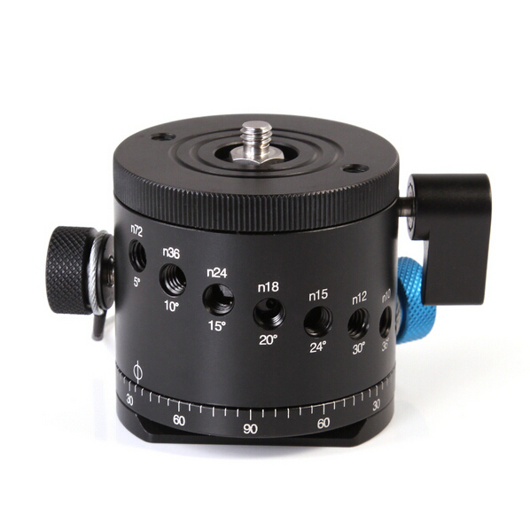Panoramic Panorama BallHead Clamp Indexing Rotator For Camera Tripod Head