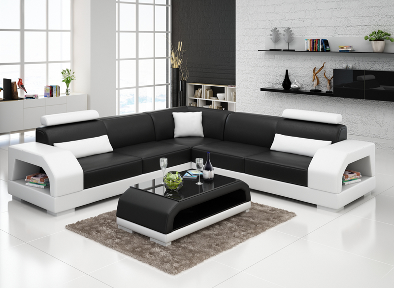 New design sofa corner sofa l shape sofa in living room for Family room with sectional sofa