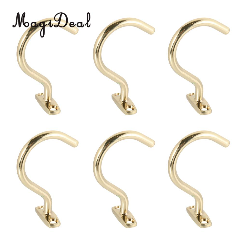 MagiDeal 6 Pcs Snooker Billiard Table Cue Brass Hook to Hold Bridge Stick Pool Rack