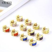 OUFEI Stainless Steel Earrings For Women Korean Version Fashion Jewelry Accessories wholesale lots bulk