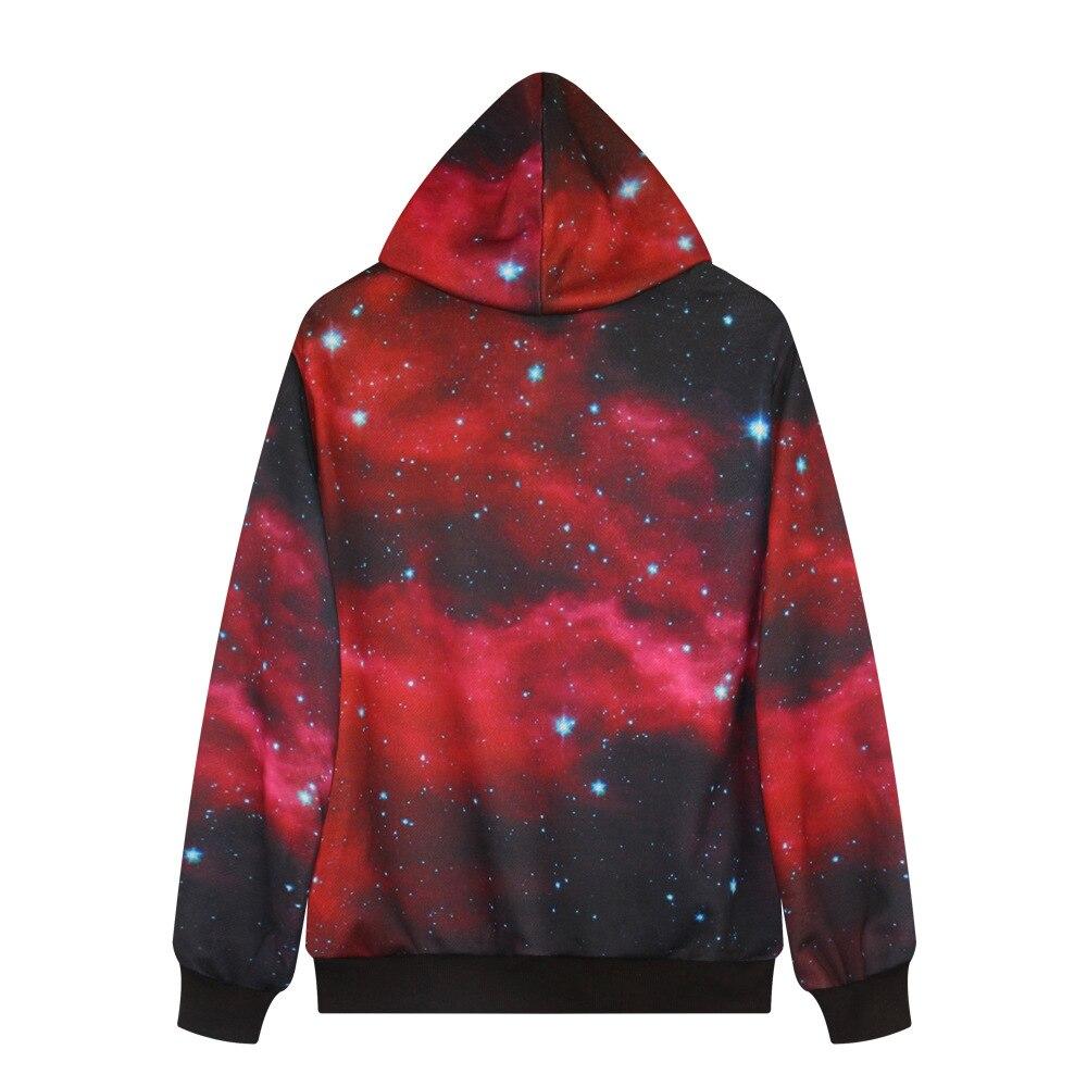 3D Print Red Galaxy Stars Hoodies Women Long-Sleeve Hoodie with hat Men Women Soft Hoodies Punk Casual Hip Pop Unisex Sweatshit
