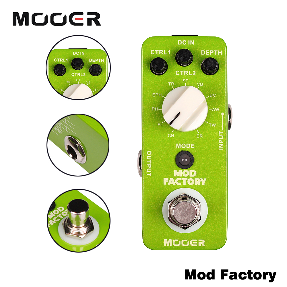 Mooer Collected 11 Kinds Of Classic Modulation Effects Full Metal Shell True Bypass Mod Factory Guitar Effect Pedal mooer mod factory modulation guitar effects pedal true bypass with free connector and footswitch topper