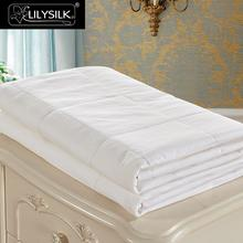 LilySilk Comforter Duvet Silk Washable Cotton Covered 100 pure and natural long strand silk floss Free Shipping