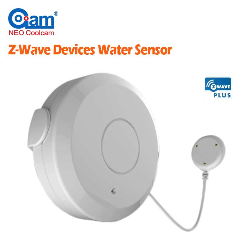 NEO Coolcam Smart Home Z-Wave Plus Flood Sensor Compatible with Z-wave Sensor Alarm Water Leakage Home Automation System neo coolcam nas pd02z new z wave pir motion sensor detector home automation alarm system motion alarm system eu us version