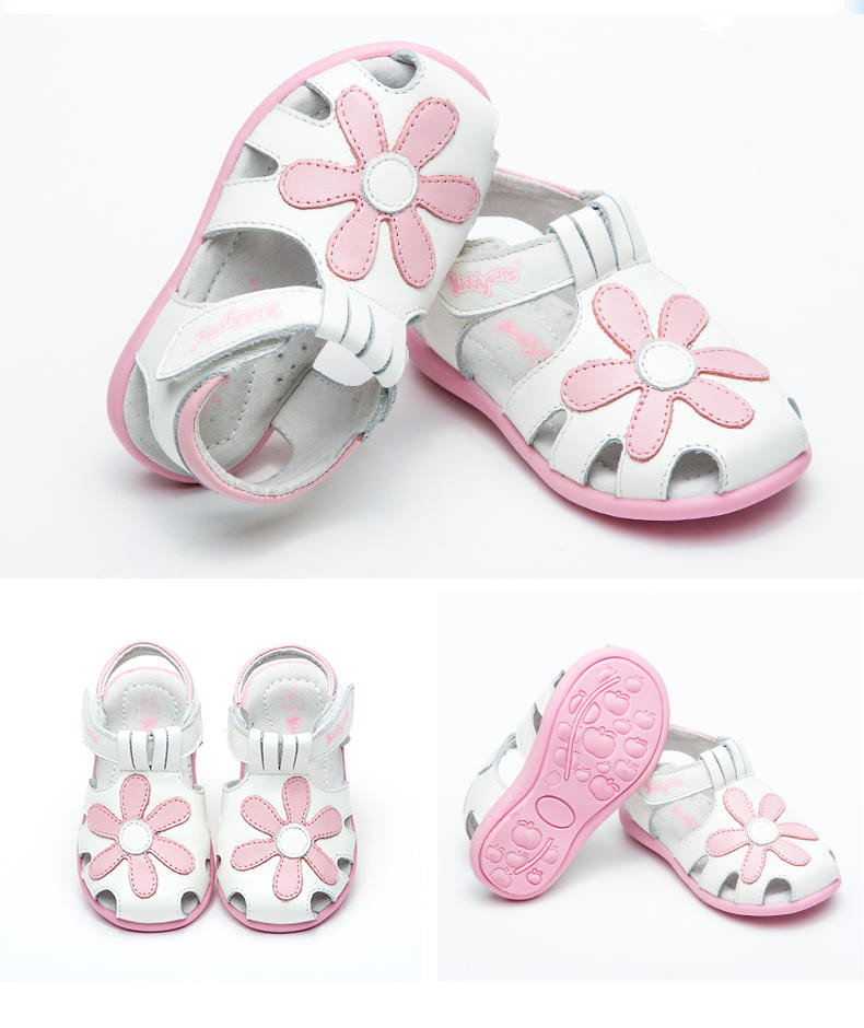 2018 NEW child sandals HOT Sale 1pair Flower Orthopedic Genuine Leather Sandals, super quality Girl Sandals Children Shoes,