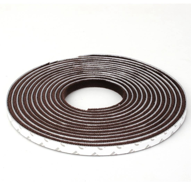 5 meters Self-adhesive window seals Door sealing strip Door gasket Pull air stop seal brush brown refrigerator seal freezer magnetic sealing strip door gasket custom made white gray