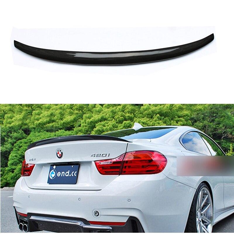 עבור BMW F36 פחמן אחורי ספוילר M4 סגנון 4 סדרת 4 דלת גראן קופה פחמן ספוילר 2014 2015 2016- עד 420i 420d 428i 435i