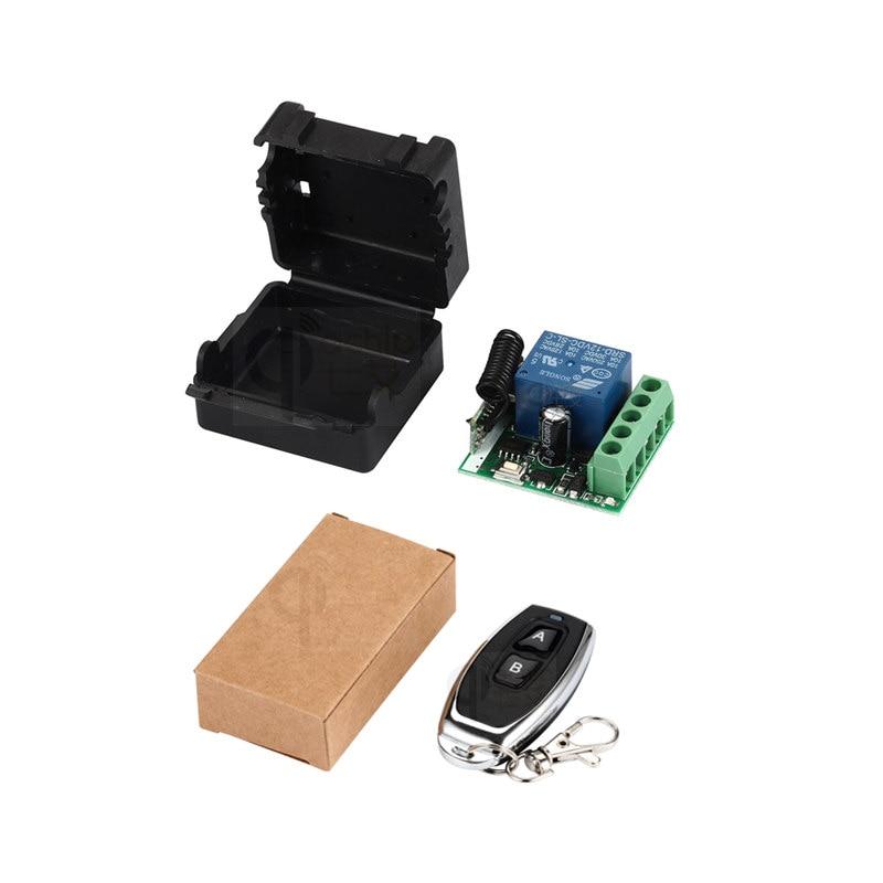 QIACHIP 433 Mhz interruptor de Control remoto inalámbrico Universal DC 12 V 1 Ch módulo receptor Transmisor RF 433 Mhz controles remotos