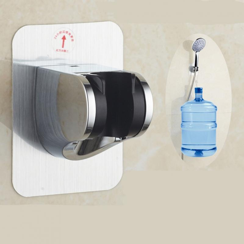 Adjustable Self-adhesive Handheld Suction Up Chrome Polished Showerhead Holder Wall Mounted Bathroom Shower Holder Bracket