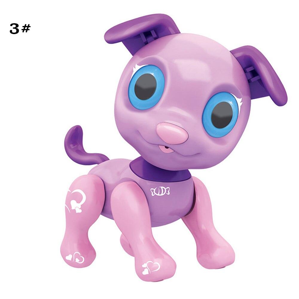 Сенсорный ответ пластиковый Умный щенок электронный питомец собака образовательный Декор Новинка разговор Крытый пазл крутой робот собака красивая - Цвет: Violet
