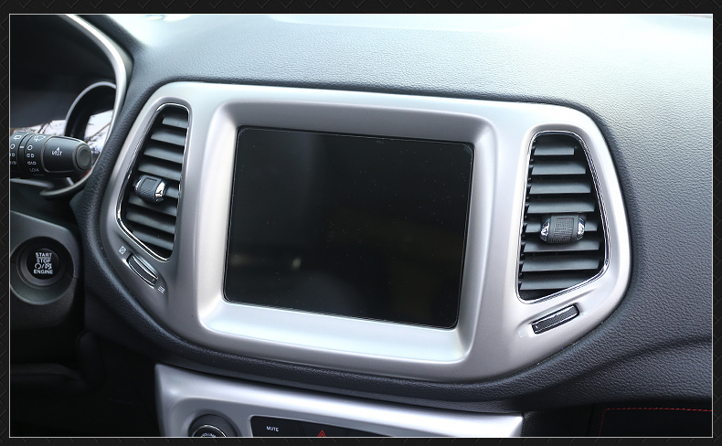 Inner Dashboard Navigation Frame Cover Trim For Jeep Compass 2nd Gen 2017-2019