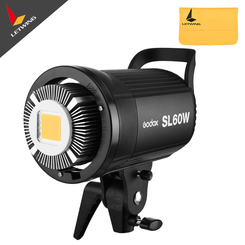 Free DHL! Godox SL-60W White Version LED Video Light Bowens Mount 5600K for Photography Studio Video Recording godox professional led video light led500w white version 5600k new arrival free shipping
