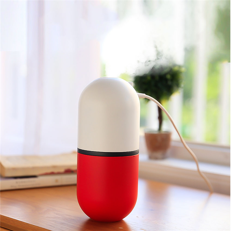 650ML Portable Air Humidifier Diffuser LED Lamp Humidifier Ultrasonic Mist Maker Mini Car Aromatherapy Diffuser USB Fan Desk
