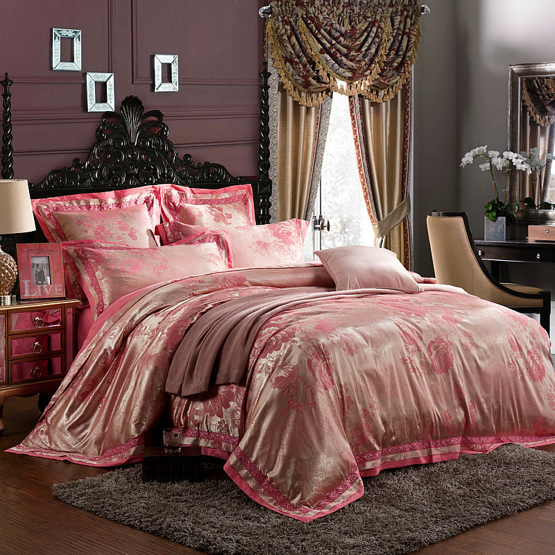 Purple and Gold Comforter Set Bedding