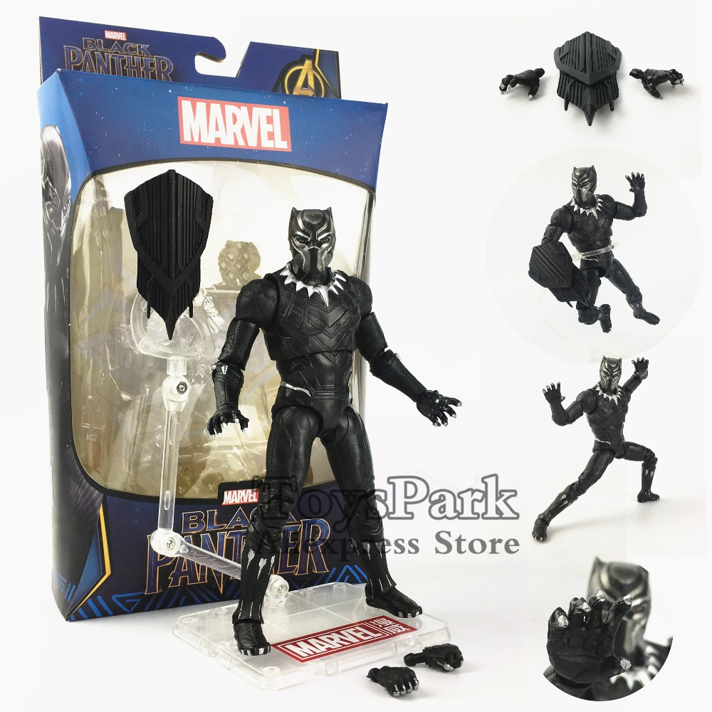 2018 Marvel 6 Black Panther Action Figure With Claw Captain America Vibranium Shield Movie Avengers Infinity War Doll Toy Model2018 Marvel 6 Black Panther Action Figure With Claw Captain America Vibranium Shield Movie Avengers Infinity War Doll Toy Model