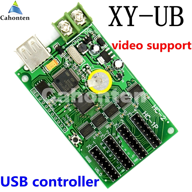 XY-UB asynchronous 4*HUB75 USB Full color LED control card 192*192,512*64pixels Lintel rgb video led screen sign controller bx 5q2 u75 usb asynchronous full color led control card with 5 hub75 port p8 p10 p4 p5 p6 p3 rgb led lintel display controller