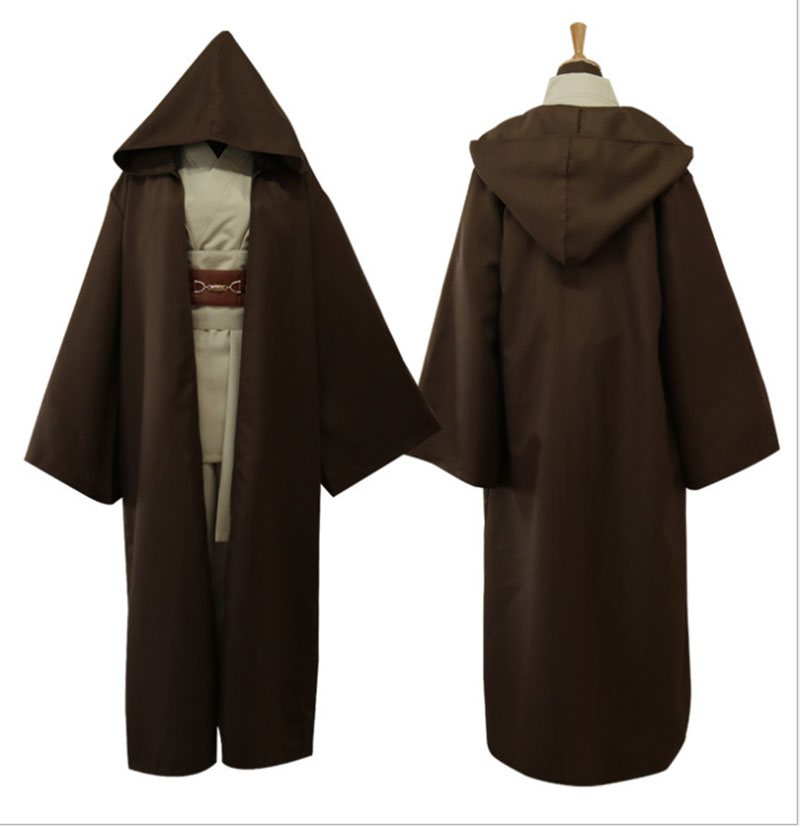 Image 4 - Star Wars Cosplay Anakin Skywalker Replica Jedi Robe Halloween Fantasia Male Cosplay Jedi Costume Black For Men Plus Size 3XLMovie & TV costumes   -