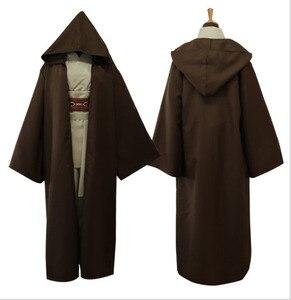 Image 3 - Star Wars Cosplay Costume Anakin Skywalker Replica Jedi Robe Fantasia Male Halloween Cosplay Jedi Costume For Men Plus Size 3XL