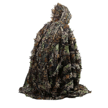 цена 3D Woodland Ghillie Suit Outdoor CS Games Paintball Camouflage Cloak Tactical Hunting Clothes Shirt + Pants онлайн в 2017 году