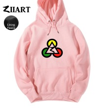 Poker Club Egypt Pyramids Jamaica Reggae Red Yellow Green Triangle Circle Autumn Winter Fleece Girls Woman Hoodies ZIIART