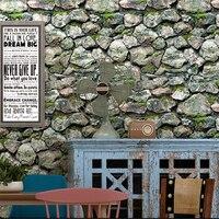 beibehang Retro nostalgic background wallpaper Chinese shop decoration restaurant barbecue hot pot shop stereo stone wallpaper
