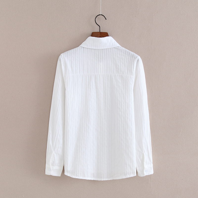 Foxmertor 100% Cotton Shirt High Quality Women Blouse