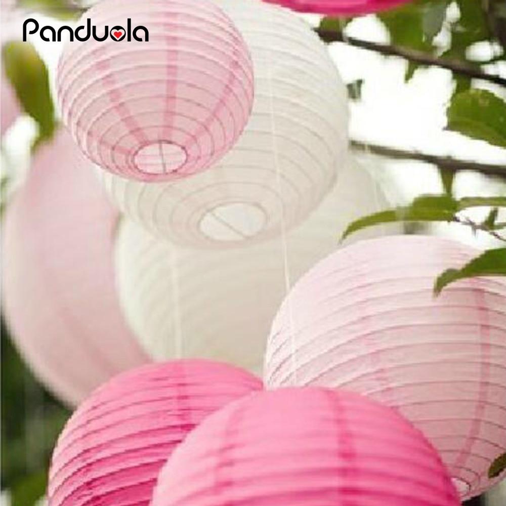 paper lantern lampion 8''(20cm) Round Chinese Paper Lanterns  Wedding Lantern Birthday Party Decorations Kids fly sky lanterns