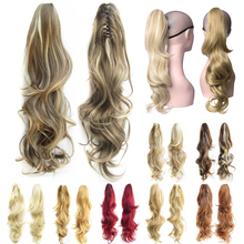 Delice 24inch Women's Long Layered Curly Ponytail High Temperature Fiber Synthetic Claw Ponytails Hair Piece 160g/pc
