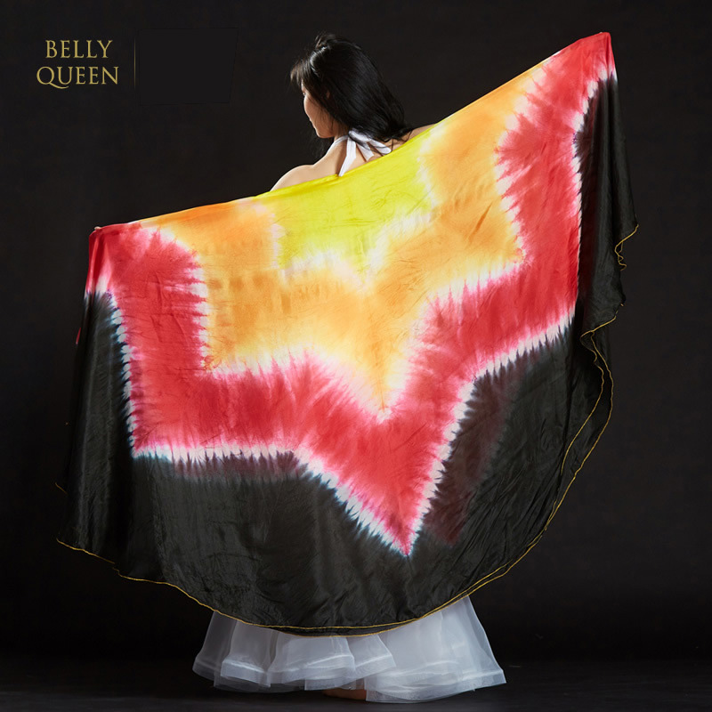100% Silk Performance Dance Wear Light Texture Veil Shawls Women Scarf Costumes Accessories Belly Dance Half Circle Veils