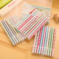 South Korean Fresh And Lovely Broken Beautiful Small Office Marker Pen 10 Color Gel Pens Kit