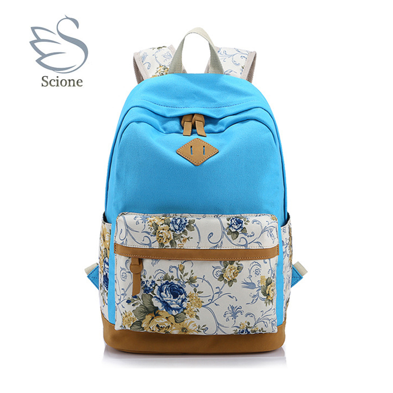 2018 Casual Cute Large Capacity Colorful Canvas Backpack School Bag Travel For Female Ladies Girls Student Fashion Bolsa BP-102 men backpack student school bag for teenager boys large capacity trip backpacks laptop backpack for 15 inches mochila masculina