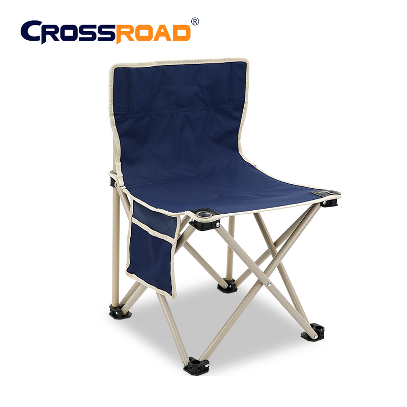 High Quality Outdoor Furniture Camping Barbecue Lightweight Folding Chair Portable Fishing Picnic Beach Metal Chair