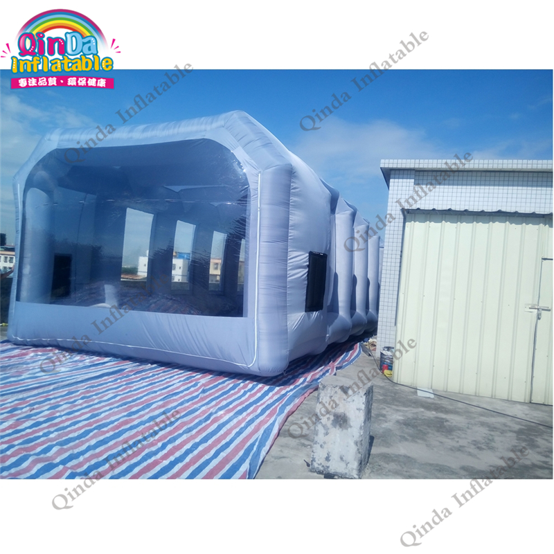 все цены на Free Shipping inflatable 32.8 ft spray paint retractable paint booth inflatable car spray booth portable folding garage онлайн