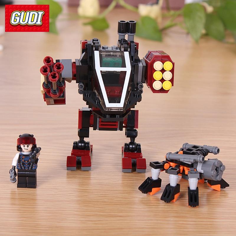 GUDI Earth Border Series Toys Model Building Kits Mecha Robot Spider Spy Model DIY Building Blocks Educational Gift For Children