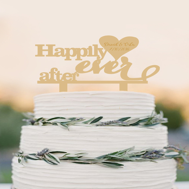 Happily Ever After, Wedding Cake Topper, Love cake topper,Rustic ...