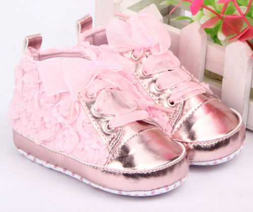 New Baby Kid Girl Toddler Non-slip Soft Sole Crib Sneaker Shoes Prewalker Boots