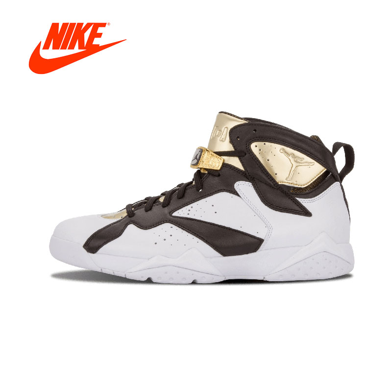 best service 9ee2a 2c592 Original New Arrival Authentic NIKE Air Jordan 7 Retro C C Champagne Mens  Basketball Shoes Sneakers Sport Outdoor